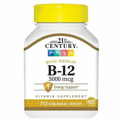 21st Century Vitamin B12 5000mcg High Potency Tablets 110ct -Exp. Date 10-2019-