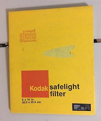 "Kodak safelight glass filter 8"" x 10"" Wratten No.3  Red L@@k"