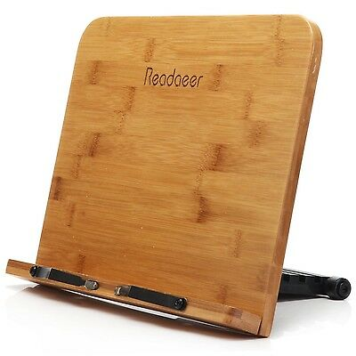 Adjustable Portable Book Document Wood Stand Holder Cookbook Reading Desk BamBoo