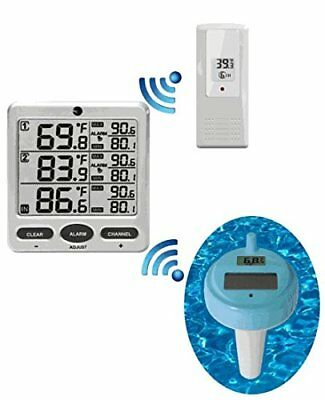 Ambient Weather WS-20 Wireless 8-Channel Floating Pool and Spa Thermometer with