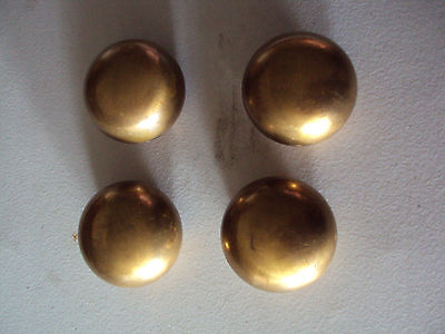 Brass Door Knobs, Set of 4 knobs only