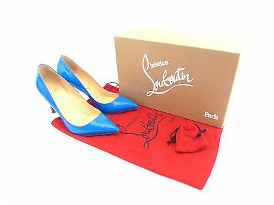 d23c8f79596 CHRISTIAN LOUBOUTIN PIGALLE 85 Blue Patent Leather [ UK 3 / EU 36 / US 6 ]
