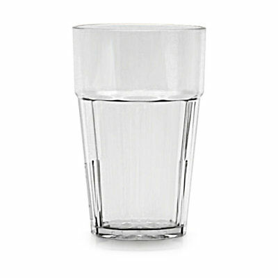 Thunder Group PLPCTB124CL 24 oz. Clear Plastic Diamond Tumbler - Case of 12