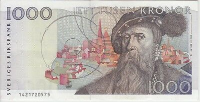 Sweden  P#60-0575 1000 1.000 1,000 Kronor Extremely Fine-Almost Uncirculated