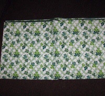 "Longaberger St. Patrick's Day Fabric TABLE CLOTH SQUARE 36"" - Lots of Luck USA"