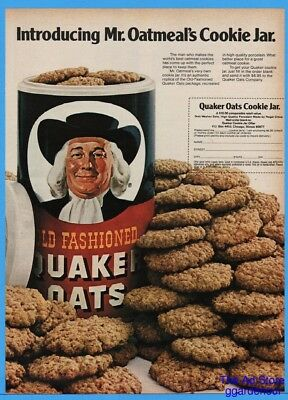 1976 Quaker Oats Oatmeal Cookie Jar Offer Magazine Photo Print Ad