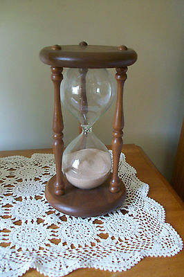 Vintage Decorative Wood Hourglass.....9 inches