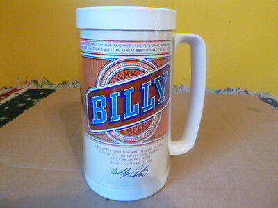 Vintage Billy Beer Thermo-Serv Insulated Plastic Mug
