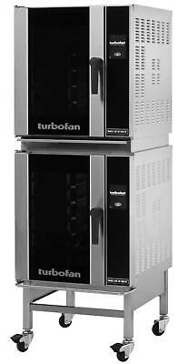 Moffat E32T5/2C Turbofan Double Stacked Electric Convection Oven w/ Stand