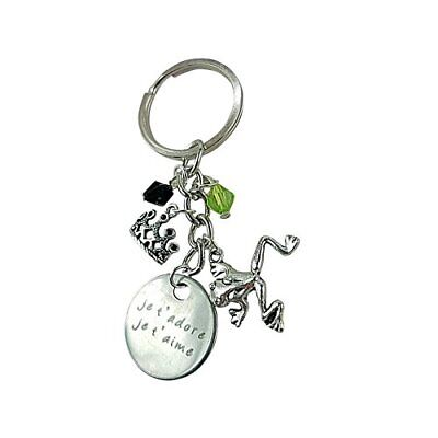 Art Attack Je T'aime Et Je T'adore French I Love You Crown Princess Keychain
