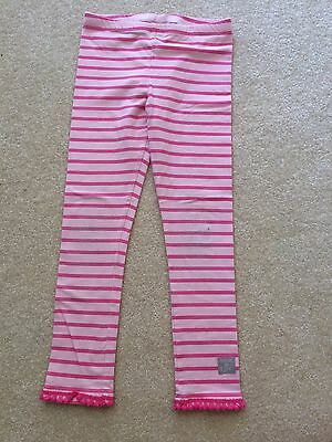 Naartjie Kids Girl Pink Striped Long Pants Size L 6 years