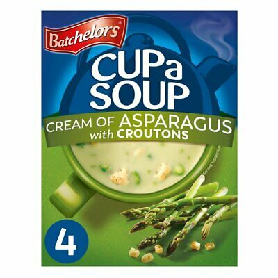 Batchelors Cup a Soup Cream of Asparagus with Croutons 4 Pack 117G