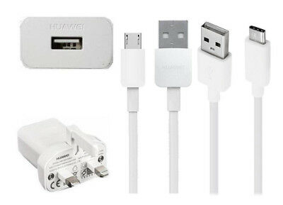 Genuine Huawei Mains Charger +  Huawei Usb Data Cable For Huawei Phone Models