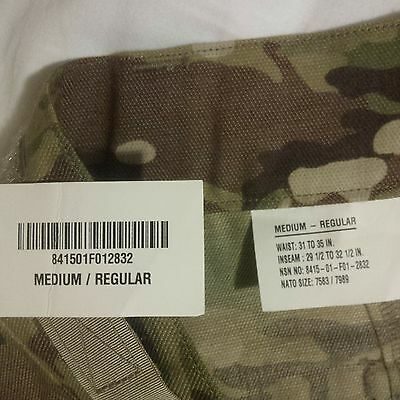 NEW Medium Regular ACP Multicam SF Issue Army COMBAT PANTS w/ TAGS