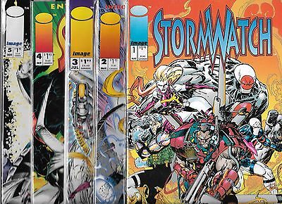Stormwatch Lot Of 5 - #1 #2 #3 #4 #5 (Nm-) Image Comics