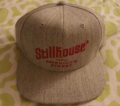 Stillhouse Whiskey adjustable baseball cap / hat G-Eazy gray / red
