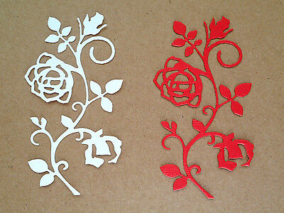 Rose Flourish Paper Die Cuts x 5 Sets Scrapbooking Card Topper Embellishment