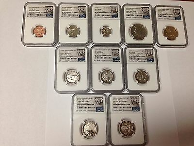 2017-S NGC SP69 FDI ANA Mint 225th Anniversary Enhanced Uncirculated Coin Set