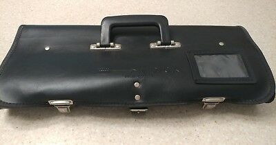 Preowned F. Dick Germany Leather Proffesional Chef Knife Roll Bag Euc