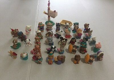 Hallmark Merry Miniatures Lot Halloween Thanksgiving Valentines Beach 38 Piece