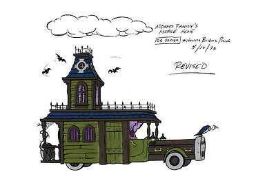 Addams Family MOBILE HOME MODEL SHEET A HB Cartoon