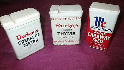 Lot of 3 Vintage Spice Tins- Durkee & McCormick- Circa 1970's