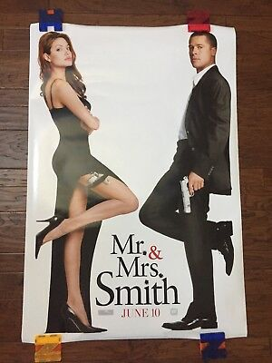 Mr. & Mrs. Smith (2006) Authentic One Sheet Double Sided Movie Theater Poster.