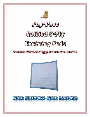 Quilted Pup-Pees Training Puppy Training Pads 5-Ply Asst'd Sizes FREE SAMPLES