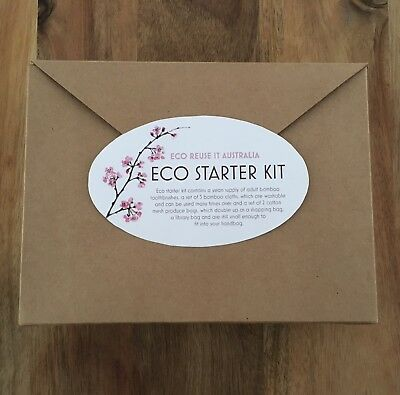 Eco Reuse IT Australia Eco Starter Kit Bamboo Toothbrush Mesh Grocery Bag