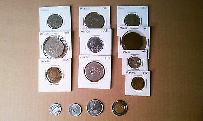 Coins from Mexico 14 Coins ranging from 1944 - 2006