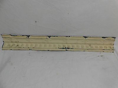 "36"" Antique Tin Ceiling Cornice - C. 1890 Dentil Molding Architectural Salvage"