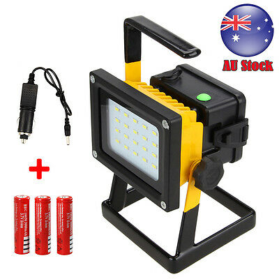 30W Portable Outdoor Rechargeable Floodlight Work 20LED Light charger Waterproof