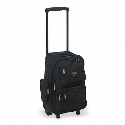 "HiPack 19"" Rolling Backpack Carry-on Luggage Wheeled Bag - Overnighter Black"