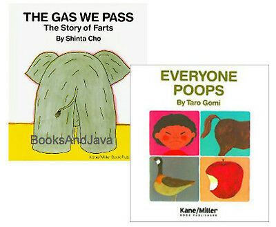 The Gas We Pass by Shinta Cho & Everybody Poops by Taro Gomi 2 Paperback Set
