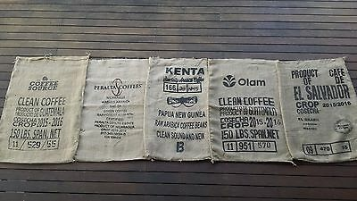 Hessian Sack Black Print 5 PACK  Crafts Upcycle Create Postage included