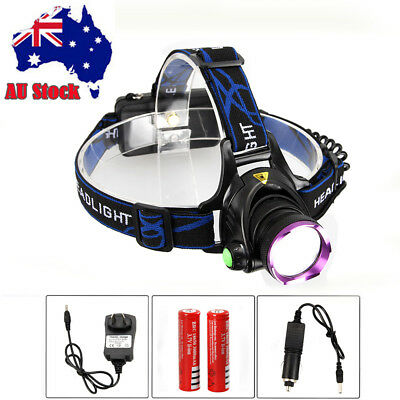6000LM CREE XM-L T6 LED Headlamp HeadLight Rechargeable Head Torch 2x18650 CH