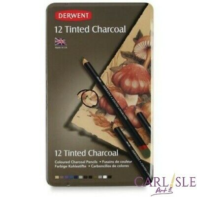 Derwent Tinted Charcoal Pencils Set of 12