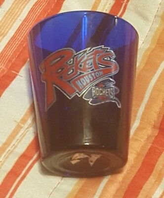 Shot glass HOUSTON ROCKETS    (blue) VINTAGE  Shotglass