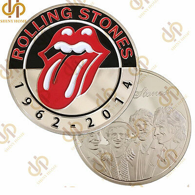 The Rolling Stones Silver Plated Coin The USA Music Rock Band Collection Gift