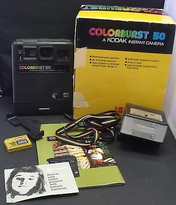 Kodak Colorburst 50 Instant Camera + Original Box + Accessories (Colourburst)