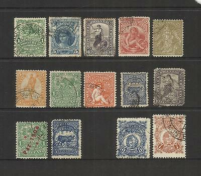 Uruguay~ 1904-07 Definitives (Used Part Sets)