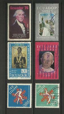 Ecuador ~ Small Mid Modern Collection (Most Postally Used)