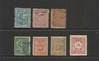 Uruguay~ 1872-1882 Definitives (Used Part Sets)