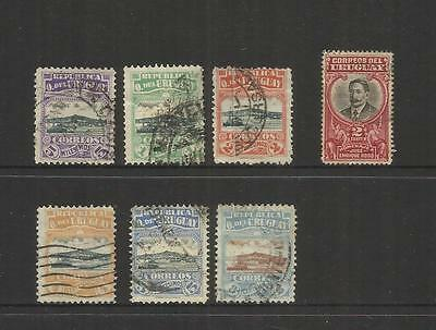 Uruguay~ 1919-20 Montevideo & Rodo (Used Part Sets)