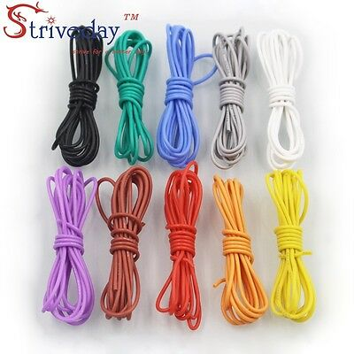 5 meters 10 Colors optional 16-30AWG Flexible Silicone Tinned copper Wire DIY