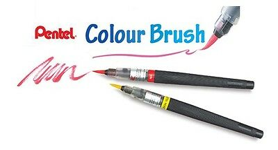 Pentel Arts Colour Brush Water-based Ink REFILLS (18 Colours Available)