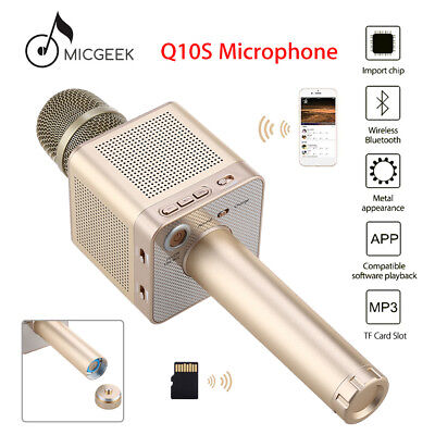 MicGeek Q10S Wireless BT Microphone Karaoke KTV Player For Samsung iPhone 7 Vivo
