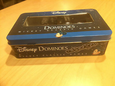 Disney MICKEY MOUSE Classic Games Dominoes Metal Case Domino