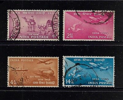INDIA - 1954 Indian Stamp Centenary, set of 4, used
