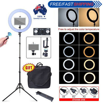 Fotoconic 80W 48cm 2700K~5500K LED Dimmable Ring Light Kit for iPad iPhone Video